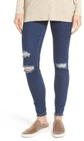 Hue Women's Distress Denim Leggings