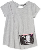 Jessica Simpson Purse Pocket Keyhole T-Shirt, Big Girls (7-16)