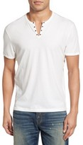 John Varvatos Men's Eyelet Neck Henley
