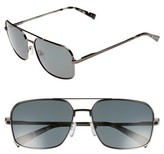 Ted Baker Men's 60Mm Polarized Navigator Sunglasses - Dark Gunmetal