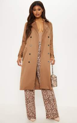 PrettyLittleThing Tall Brown Oversized Longline Coat