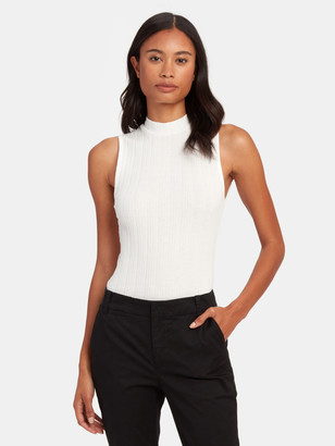 Vince Shell Sleeveless Mock Neck Top