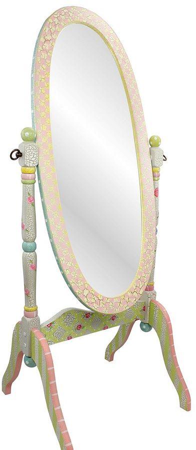 Teamson Kids Fantasy Fields Crackled Rose Standing Mirror