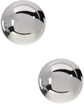 Candela Sterling Silver 8mm Polished Ball Stud Earrings with 14K Gold Post