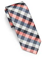 Michael Kors Check Woven-Silk Tie