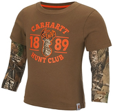 Carhartt Canyon Brown 'Hunt Club' Layered Tee - Toddler