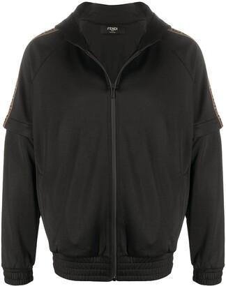 Fendi Removable Sleeve Bomber Jacket