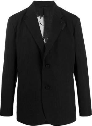 Issey Miyake wrinkled-effect single-breasted blazer
