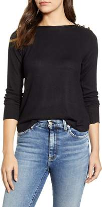 Bobeau Cozy Button Top