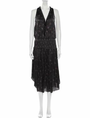 Ulla Johnson Floral Print Long Dress Grey