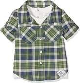 Pumpkin Patch Baby Boys 0-24m Mock Tee Check Shirt