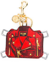 Moschino trompe l'oeil keyring - women - Leather - One Size
