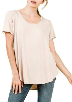 Olivia Pratt Criss-Cross Back Everyday Tee