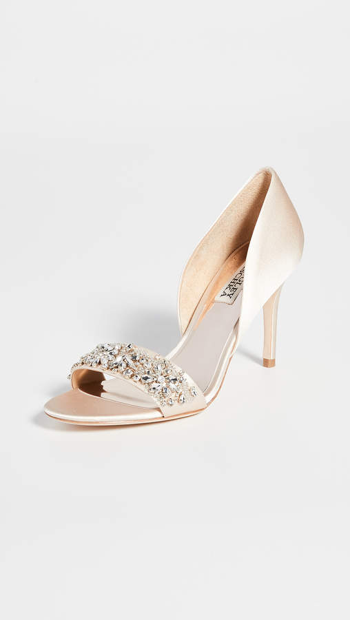 Badgley Mischka Ivy Open Toe Pumps