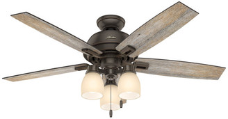 "Hunter Fan Co Hunter Fan Company 52"" Donegan w/ 3 Lights Onyx Bengal Ceiling Fan w/"