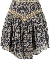 Etoile Isabel Marant Valerie ornate-print fluted mini skirt