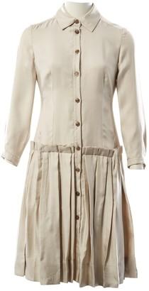 Wunderkind Beige Silk Dress for Women