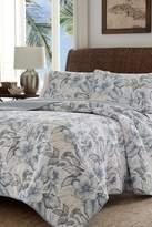 Tommy Bahama Casablanca Garden Twin Quilt & Sham 2-Piece Set - Gray