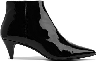 Iris & Ink Selvie Patent-leather Ankle Boots