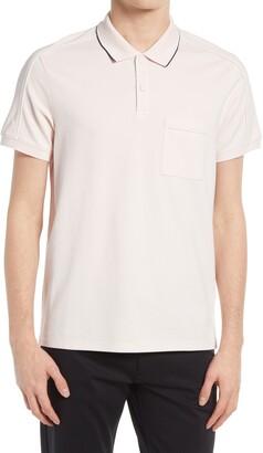 Club Monaco Stretch Cotton Piped Polo Shirt