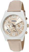 Fossil Women's ES3980 Perfect Boyfriend Sport Multifunction Blush Glaze Leather Watch