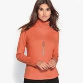 Anne Weyburn Cotton & Modal Roll Neck T-Shirt