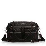 MZ Wallace Crosby Quilted Traveler Oxford Nylon Diaper Bag - Black