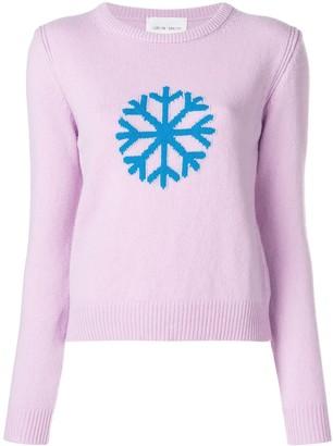 Alberta Ferretti Snowflake Intarsia Sweater