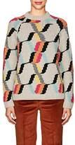 Prada Women's Diamond-Pattern Wool Sweater
