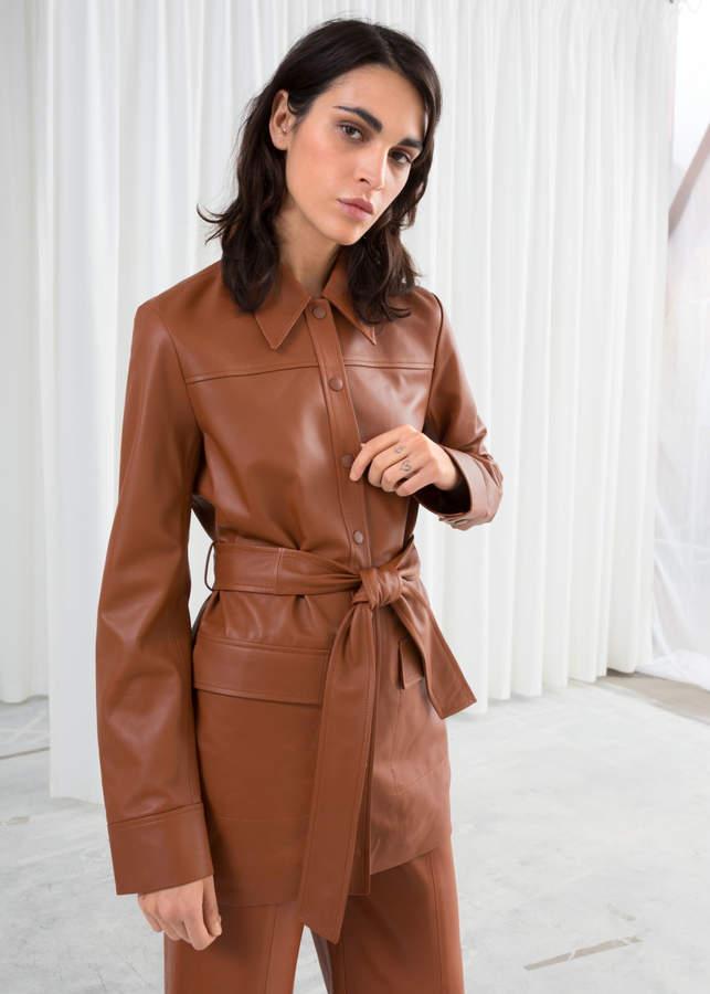 e684f0cc19 Women's Camel Leather Jacket - ShopStyle
