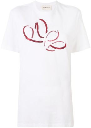 PortsPURE sequin-embroidered T-shirt
