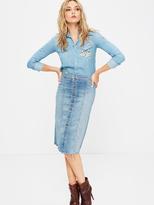 Mother Button Front Midi Fray Skirt - Heartbreaker
