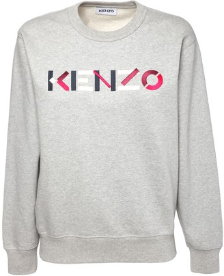 Kenzo Logo Embroidery Cotton Jersey Sweatshirt