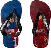 Havaianas Kids' Marvel Top Captain America + Iron Man Sandal Ruby Red Flip Flop