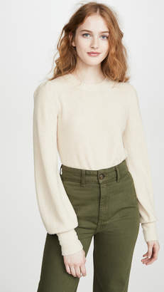 Madewell Nanhi Wide Cuff Puff Sweater