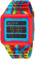 Neff NF0234-PRMY Men's Multicolored Silicone Band Black Dial Smart Watch