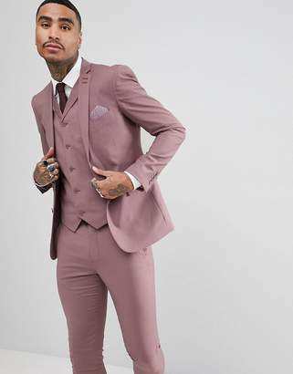 Rudie wedding Pastel Skinny Fit Suit Jacket-Pink