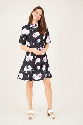 Yumi Rose Printed High Neck Dress