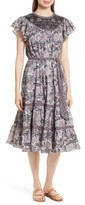 Rebecca Taylor Women's Indochine Embroidered Floral Dress