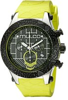 Mulco Men's MW5-2331-465 Couture Analog Display Swiss Quartz Yellow/Green Watch