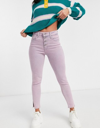 Levi's 721 high waist skinny jean in light pink