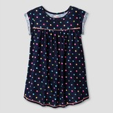 Cat & Jack Girls' Dot Print Tunic Shirt - Cat & Jack Nightfall Blue