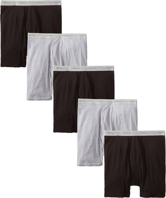 Hanes Men's 5-Pack Boxer with ComfortFlex Waistband Brief Black/Grey X-Large