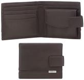 J By Jasper Conran Dark Brown Leather Tab Wallet