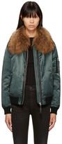 Mackage Green Fur Rella-sa Bomber Jacket