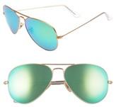 Ray-Ban Women's Standard Original 58Mm Aviator Sunglasses - Green Flash