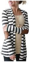 AuntTaylor Womens Bohemian Batwing Long Sleeve Shawl Kimono Cardigans Pink 2XL