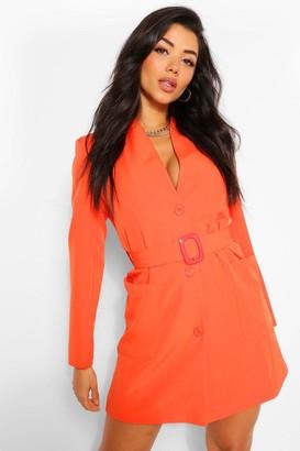 boohoo Belted Pocket Detail Blazer Dress