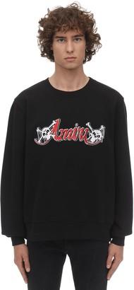 Amiri Embroidery Motley Crue Jersey Sweatshirt