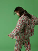 Diane von Furstenberg Long Sleeve Button Front Bomber Jacket